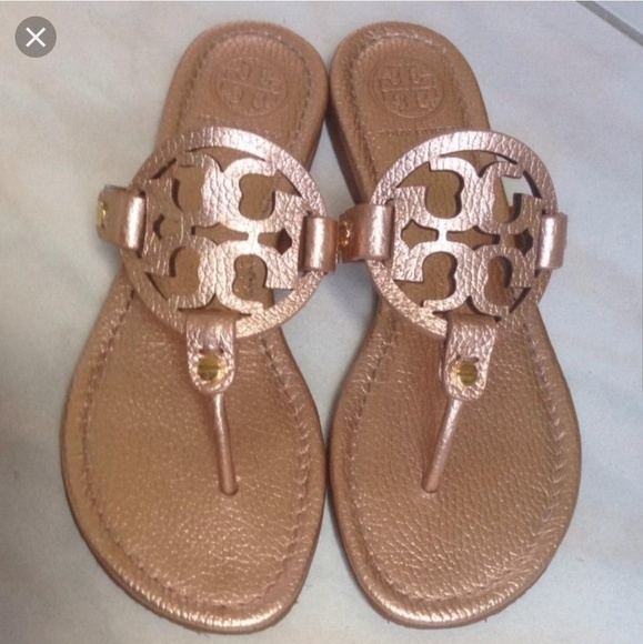 Iso Tory Burch Pebbledtumbled Rose Gold